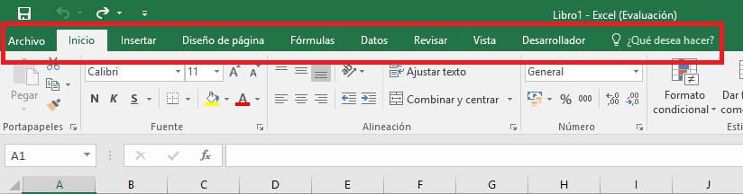 Excel: Pestaña Archivo