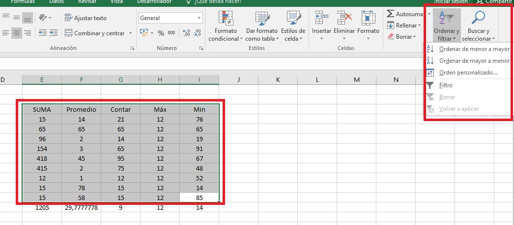 Excel_ModificarOrdenar