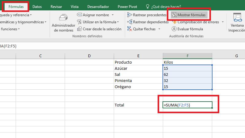 Excel_MostrarFormula