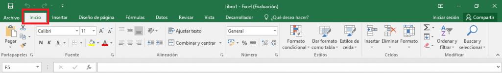 Excel: Pestaña Inicio