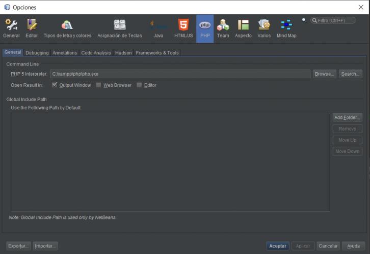 PHP - Configurar XDebug en NetBeans