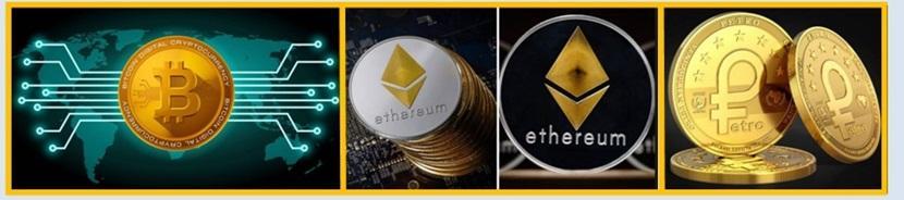 Criptomonedas: Bitcoin, Ether, Petro