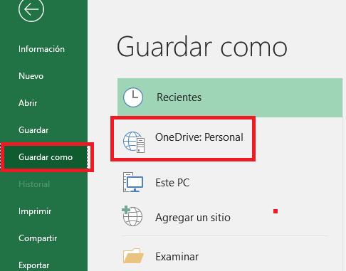 Excel: Guardarycompartirarchivosenlínea