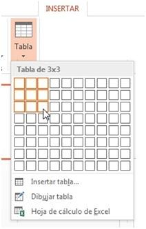 ¿Cómo crear tablas en PowerPoint?