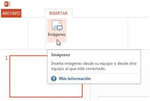 ¿Cómo insertar imágenes en PowerPoint?