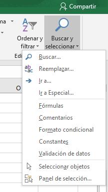 Excel: Buscar y reemplazar